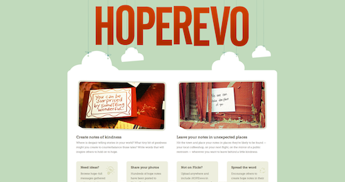 Hope-Revo Squarespace site screenshot
