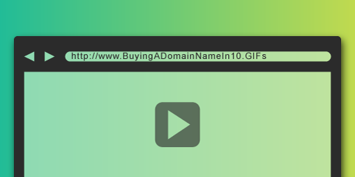 Buying a Domain Name in 10 GIFs