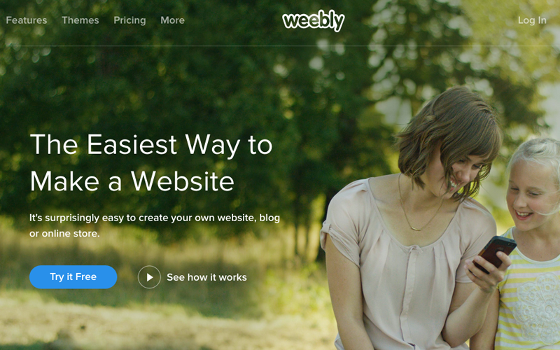 weebly screenshot