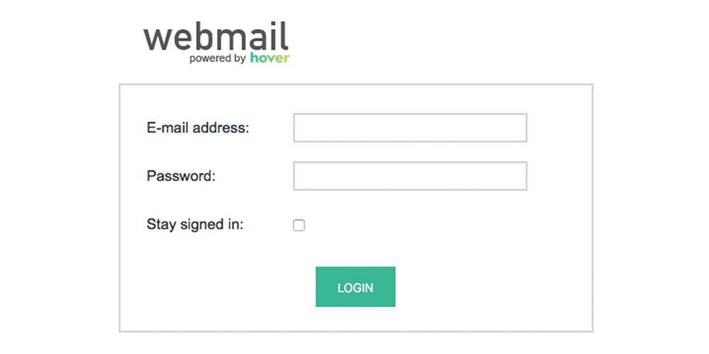 New Login Screen For Hover Webmail