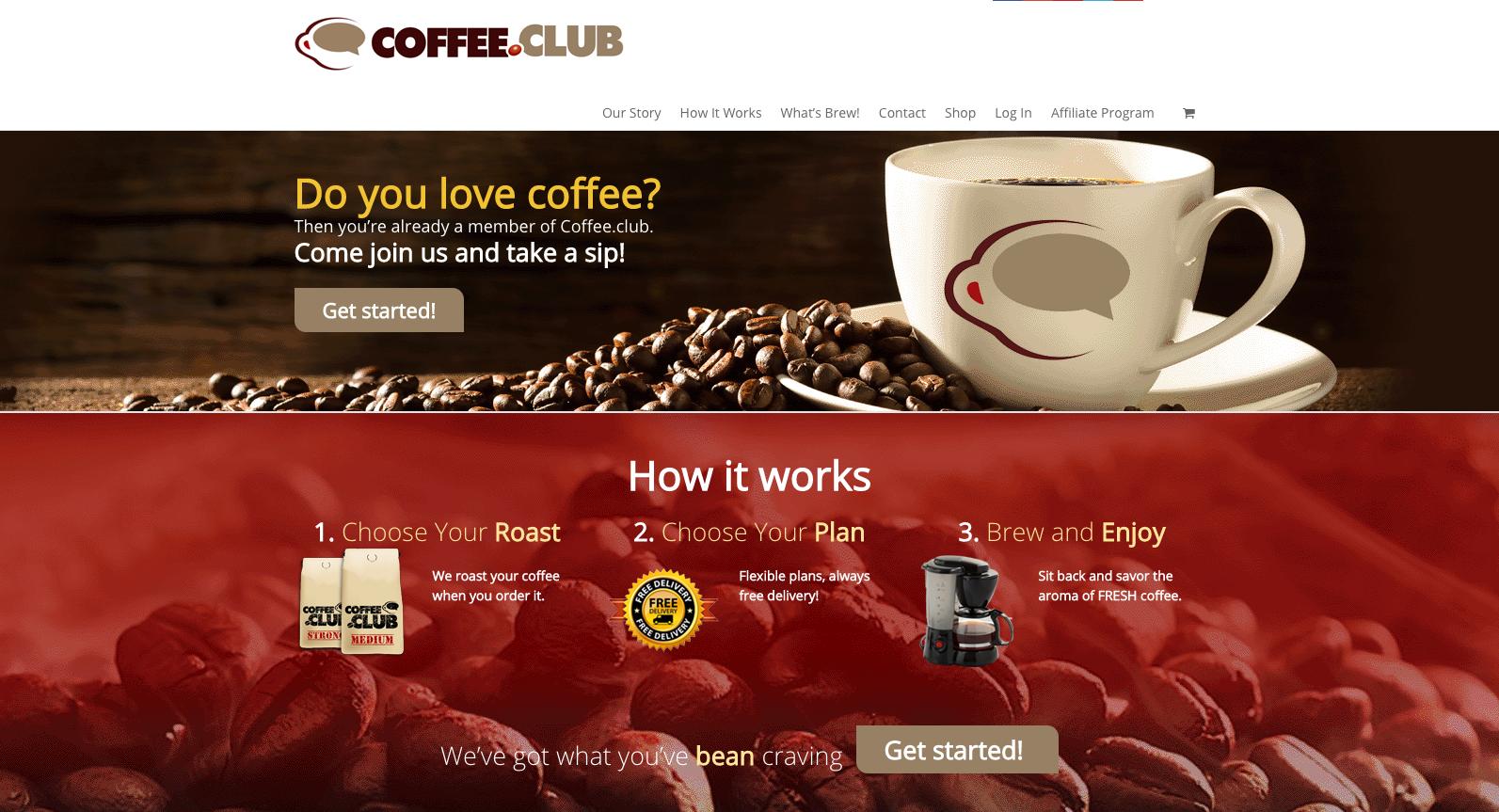 coffee.club screenshot