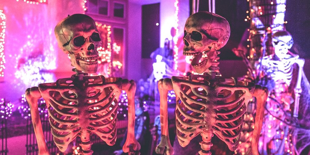 skeletons on halloween